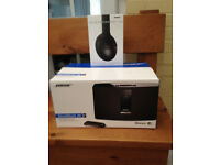 Bose music system and headphones