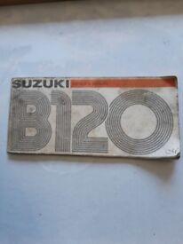 Suzuki b120 owners manual