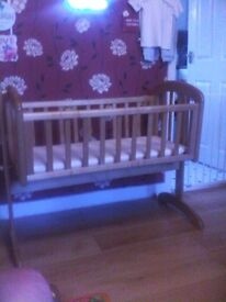 wooden crib (can swing) - need gone asap