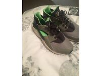 Grey and green Nike huraches size 6