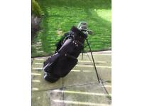 Adult Golf Clubs and Bag (with balls and tees)