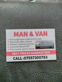 Man and Van removal service in Manchester