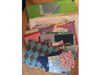 Job lot of card making/scrap booking/craft materials