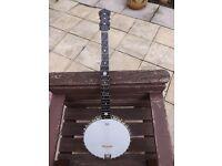 Antique open back banjo