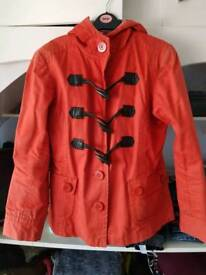 Orange toggle jacket