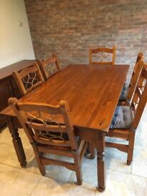 Dining room set and sideboard