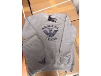 Premium Quality Armani Tracksuits.Sizes Available, M-XXL, Navy, Grey. Round Neck And Hoody ONLY £50