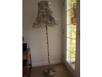 Standard Lamp with Marble base and Green Shade - sold