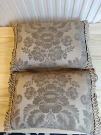 Taupe and gold scatter cushions