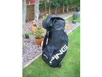 Ping soft leather golf bag as new