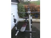 Weight bench exercise equipment
