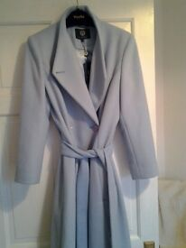 Pale blue wool coat size 10.viyella.brand new £250.selling for £70