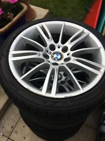 Genuine BMW MV3 3 Series M Sport Alloy Wheels And Tyres STAGGARED