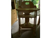 Next solid wood highchair/booster/seat suitable from 6mths-4yrs