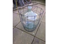 Large glass demijohn /carboy - wine making- very good clean condition