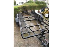 16 ft car trailer, twin axel , with breaks , ideal for motorsport or recovery
