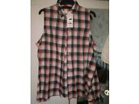 Bnwt ladys cold sholder shirt size 14