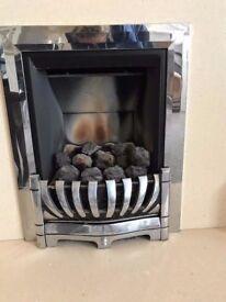 Silver Gas fire