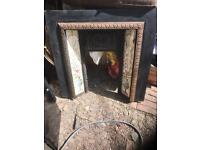 Cast iron tiled fire insert in great cond