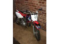 Honda crf 70 ,fmf pipe, upgraded carb, fast clean bike