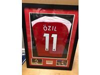 Ozil framed shirt with COA