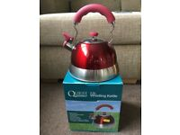 Whistling Kettle by Quest in Red (2.5 litre)
