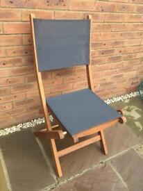 Kingsbury Mesh and Wood Folding Garden Chair x 2 new in box