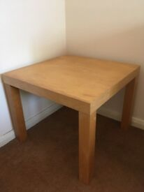 Small sturdy coffee table - removable legs for easy transport