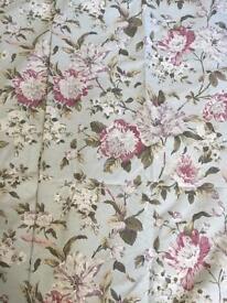 Dunelm floral curtains