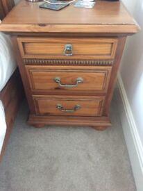 Solid wood bedside cabinets