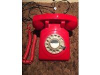 Red retro phone