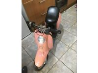Pink Bella electric scooter