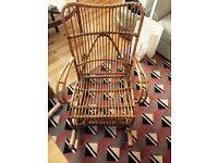 bamboo rocking chair