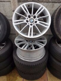 Staggered Set Bmw Mv3 Genuine Alloys 18'' Fronts and Rear Can Sell Singles Can Post Part ex welcome