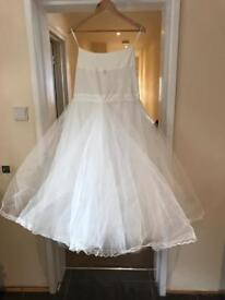 Wedding dress hoop / underskirt 3 layers
