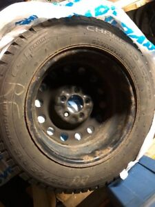 Set of four snow tires