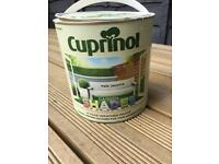 Almost full tin of Cuprinol Garden Shades - Pale Jasmine (white)