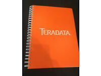 Teradata plain note book with plastic cover £2
