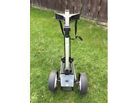 Dunlop pull golf trolley two wheels