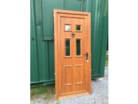 Used double glazed wood effect UPVC doors and windows