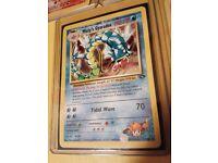 Rare original holo / shiny Pokemon card - Misty's Gyarados Gym Challenge, mint condition PSA ready