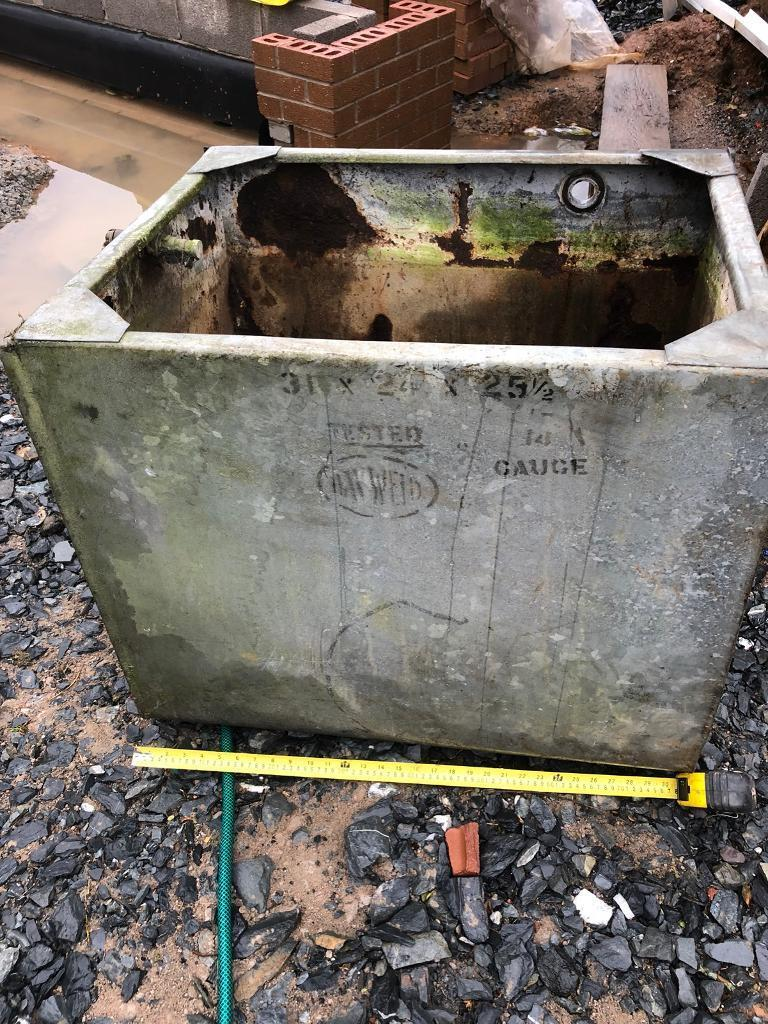 Old Galvanised Water Tank Decorative Garden Planter In