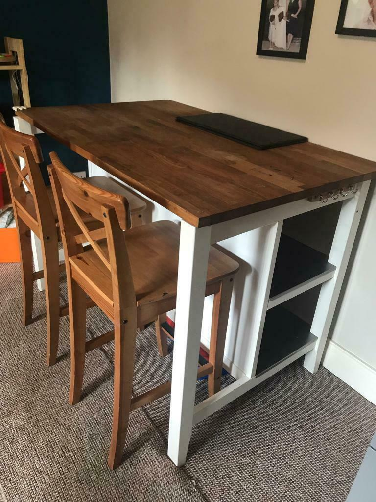 Ikea Breakfast Table With Storage And 2