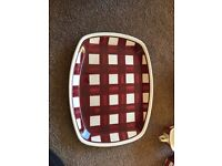 T.G.Green and co LTD patio gingham Dinnerware and crockery set.