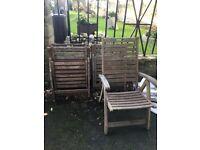Set of garden chairs x4