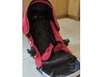 Baby Jogger City Select seat, carry cot and accessories bundle - Red
