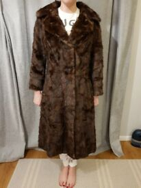 Vintage Mink Real Fur Coat - Full length ladies small size 8-10