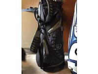 Golf clubs. With bag