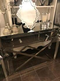 Beautiful mirrored console table