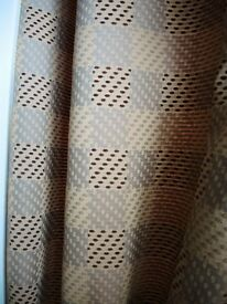 2 pairs of heavy weight fully lined curtains and pelmets